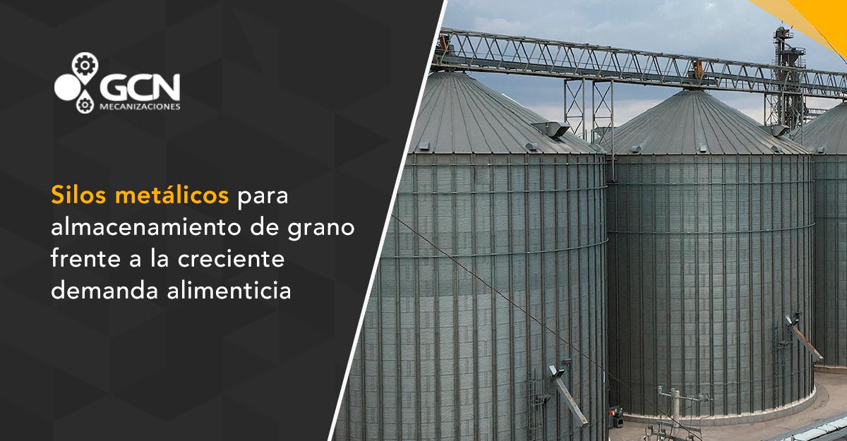 Silos metálicos para almacenamiento de grano frente a la creciente demanda alimenticia de la población