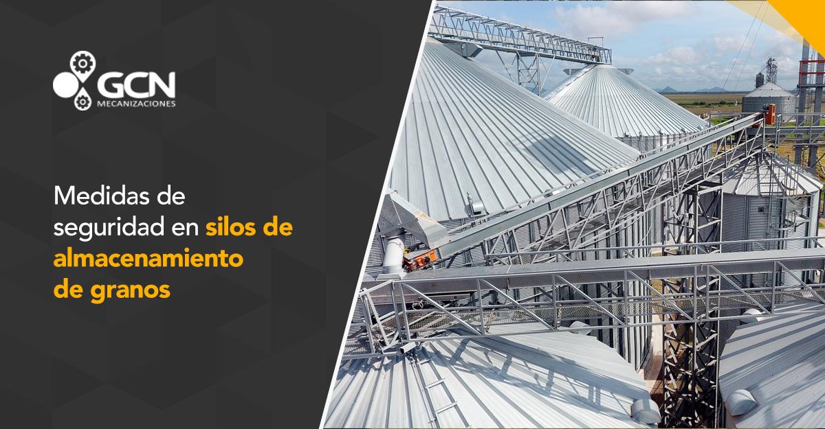 Medidas de seguridad en silos de almacenamiento de granos