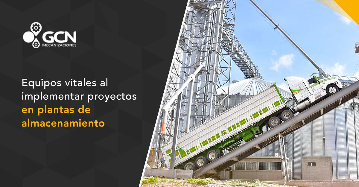 Equipos vitales al implementar proyectos en plantas de almacenamiento